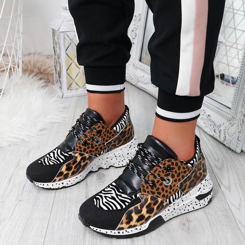 Infa Leopard Zebra Trainers