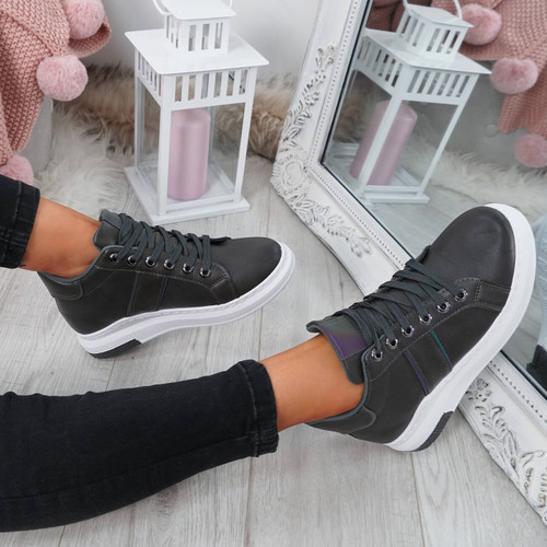 Ruppa Grey Lace Up Trainers