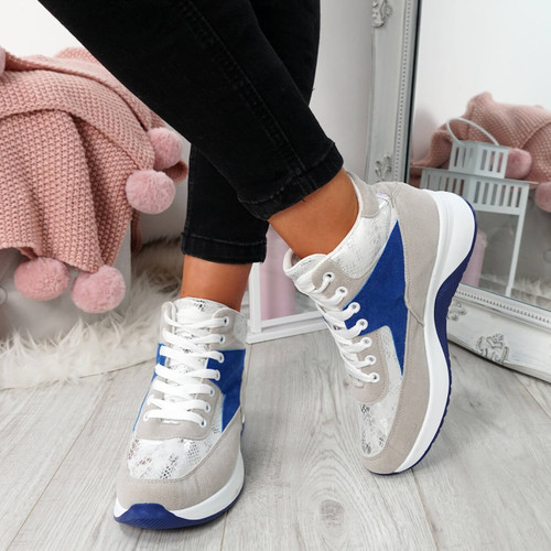Onya Blue High Top Chunky Trainers