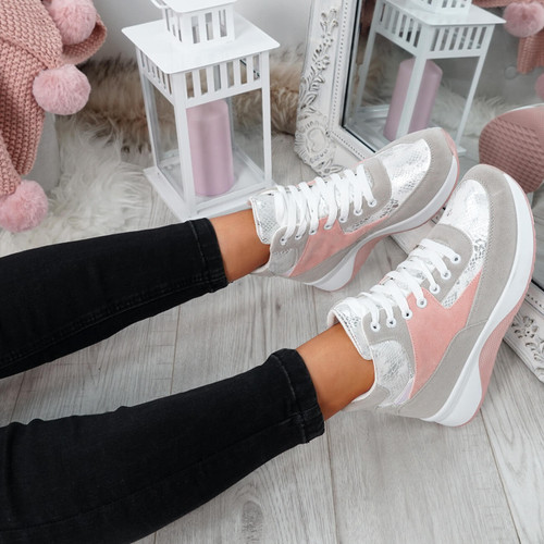 Onya Pink High Top Chunky Trainers