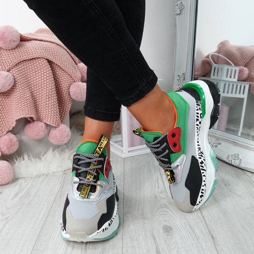 Sanso Green Chunky Trainers