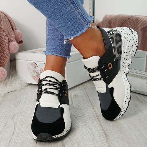 Esora Grey Lace Up Trainers