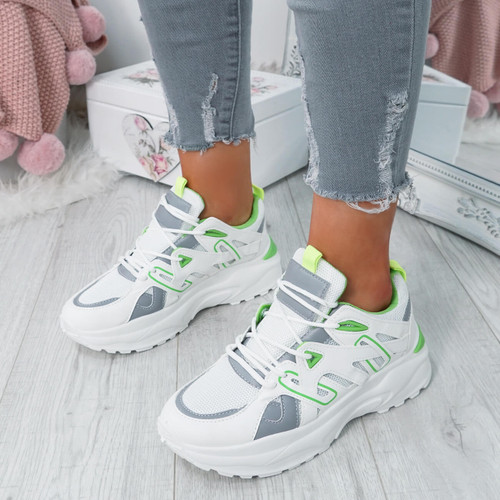 Cimma White Sport Chunky Trainers