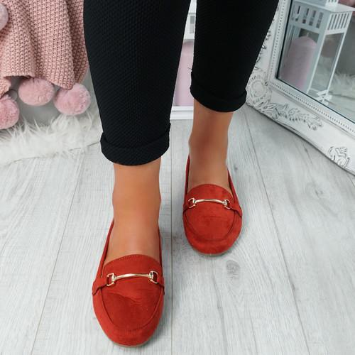 Amma Orange Slip On Ballerinas
