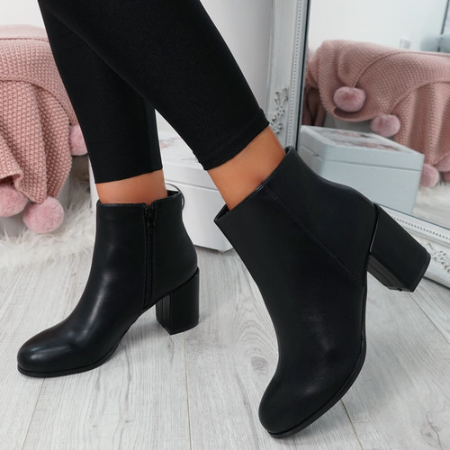 Enny Black Ankle Boots