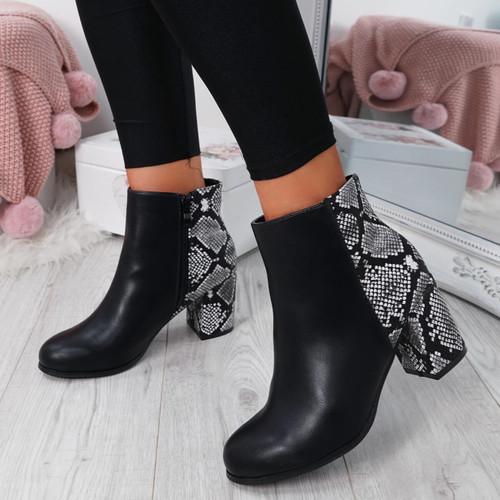 Enny Snake Ankle Boots