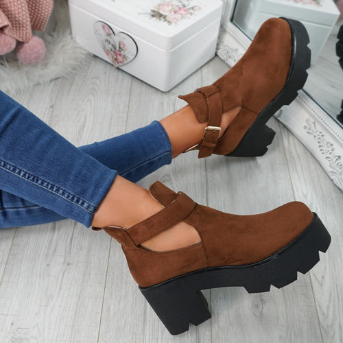 Nutte Camel Chunky Ankle Boots