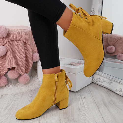 Hassa Yellow Zip Ankle Boots