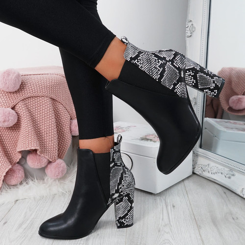 Bedda Snake Chelsea Ankle Boots