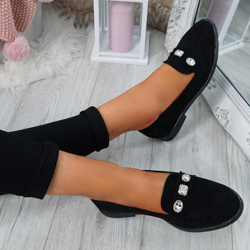 Lewe Black Studded Ballerinas