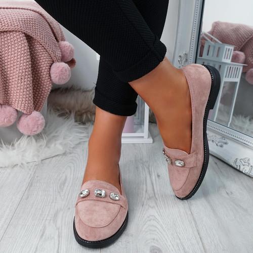 Lewe Pink Studded Ballerinas