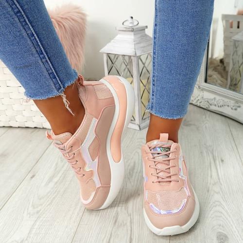 Oran Pink Shiny Trainers
