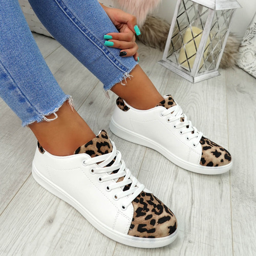 Ansy Leopard Lace Up Trainers