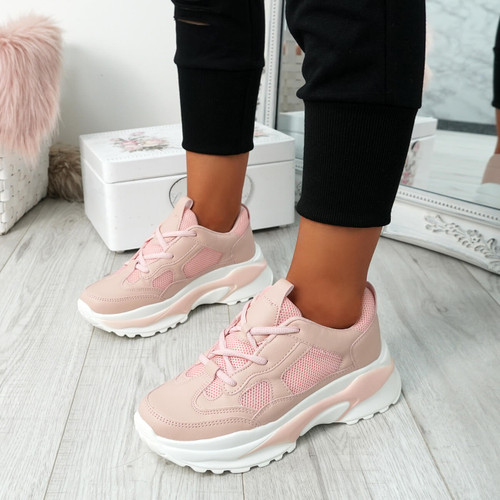 Patta Pink Chunky Trainers