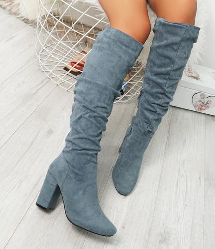 Elma Blue Knee High Otk Boots