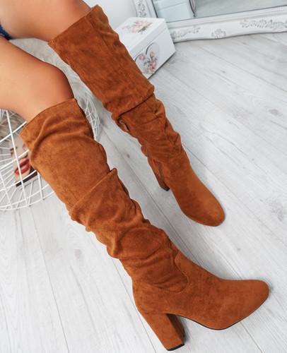 Elma Khaki Knee High Otk Boots