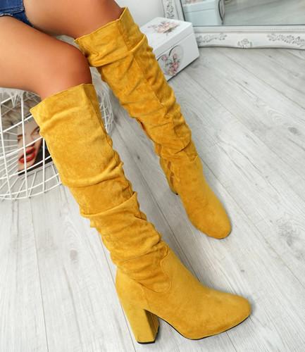 Elma Yellow Knee High Otk Boots