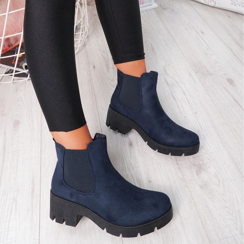 Forya Blue Chelsea Ankle Boots