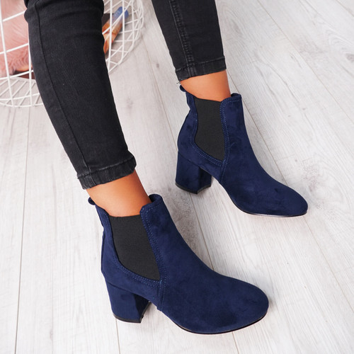 Zenta Blue Chelsea Ankle Boots