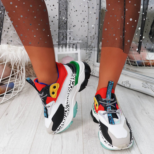 Snappa Red Chunky Multicolor Trainers