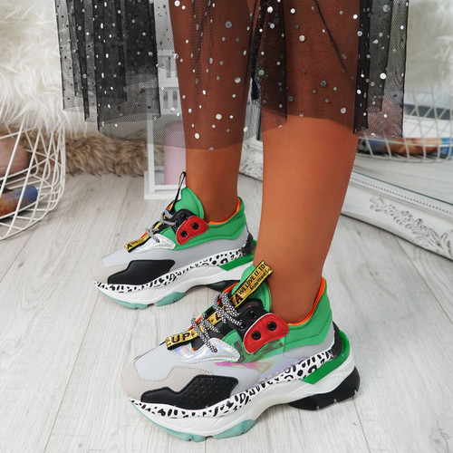 Snappa Grey Chunky Multicolor Trainers