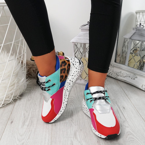 Hema Red Lace Up Trainers