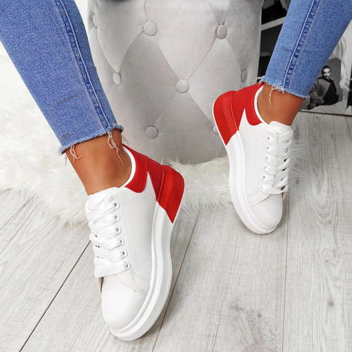 Mirra White Red Trainers