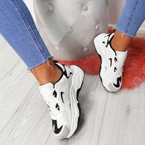 Walla White Chunky Trainers