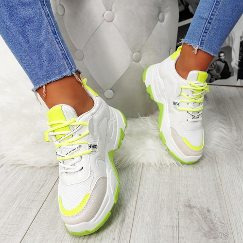Farra Green Chunky Trainers