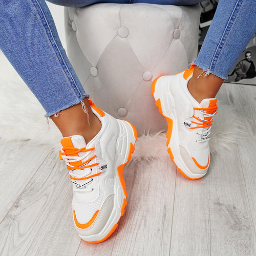 Farra Orange Chunky Trainers