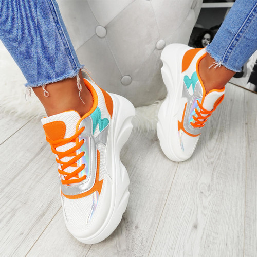 Erwin Orange Chunky Trainers
