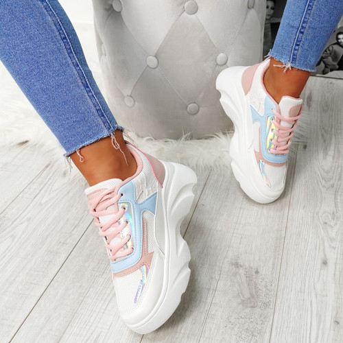 Erwin Pink Chunky Trainers