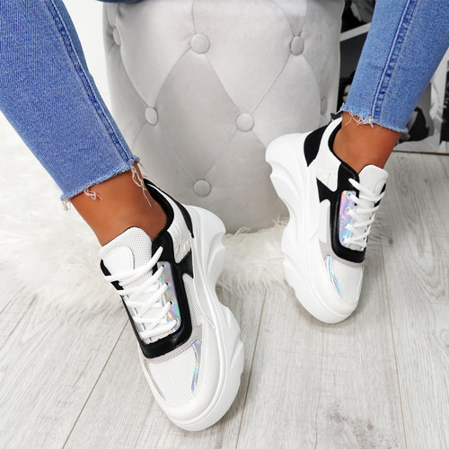 Erwin White Chunky Trainers