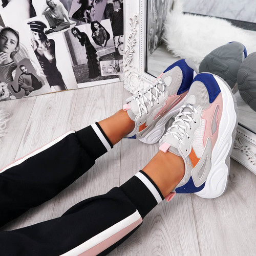 Mony Grey Chunky Sole Trainers