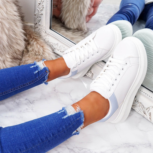 Tirra Light Blue Platform Trainers