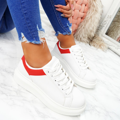 Tirra Red Platform Trainers