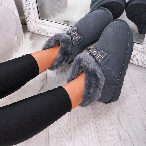 Fya Grey Ankle Boots
