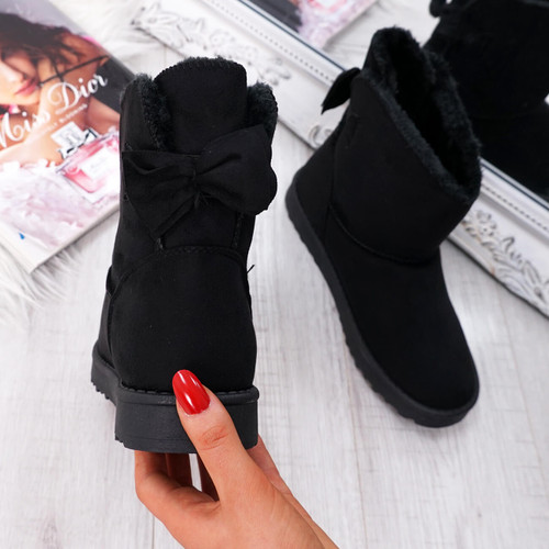 Bippa Black Ankle Boots