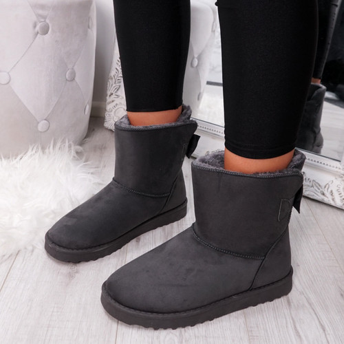 Bippa Grey Ankle Boots