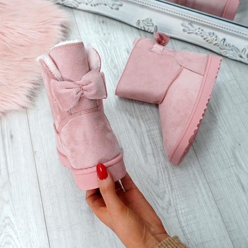 Bippa Pink Ankle Boots