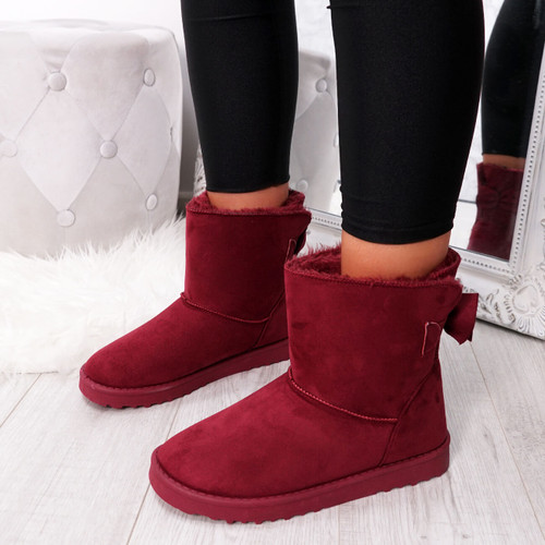 Bippa Wine Ankle Boots