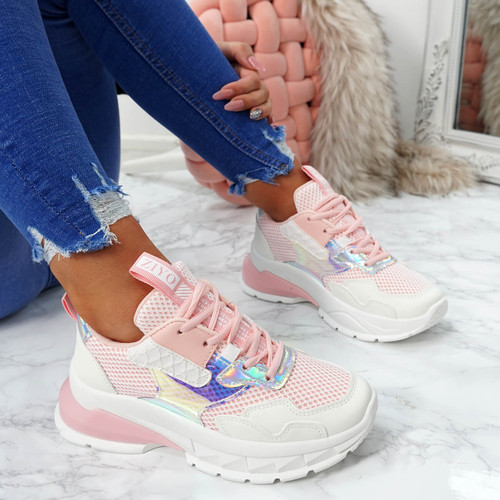 Geppe Pink Chunky Trainers