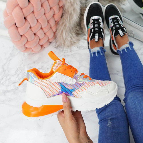 Geppe Orange Chunky Trainers