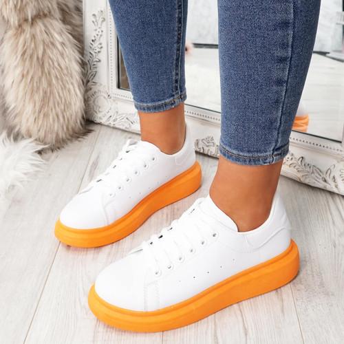 Sacco Orange Platform Trainers