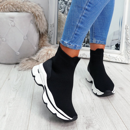 Idda Black Sock Chunky Sneakers