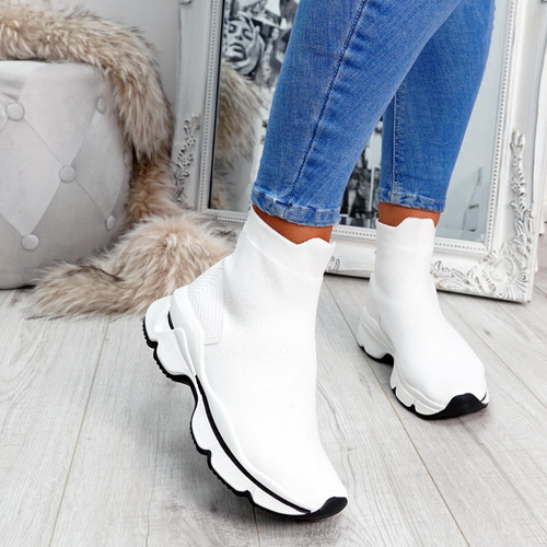 Idda White Sock Chunky Sneakers