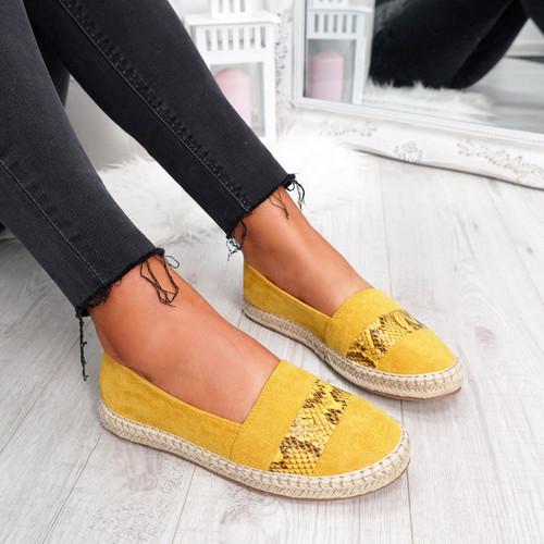 Yssi Yellow Snake Ballerinas