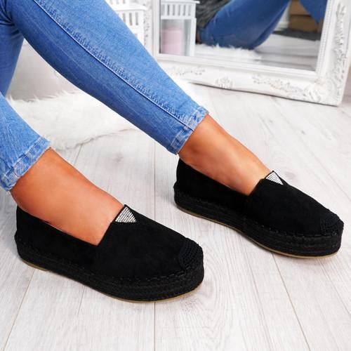 womens ladies slip on faux suede platform flat ballerinas pumps casual women shoes size uk 3 4 5 6 7 8