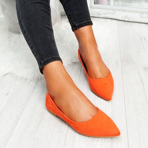 womens ladies pointed ballerinas slip on flat dolly flat pumps women shoes size uk 3 4 5 6 7 8