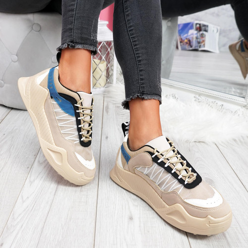 Hikka Beige Chunky Sneakers